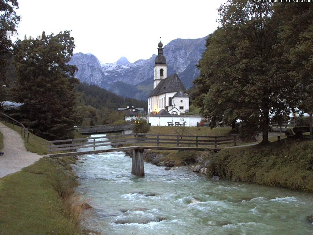 Webcam Skigebiet Ramsau - Hochschwarzeck Oberbayern