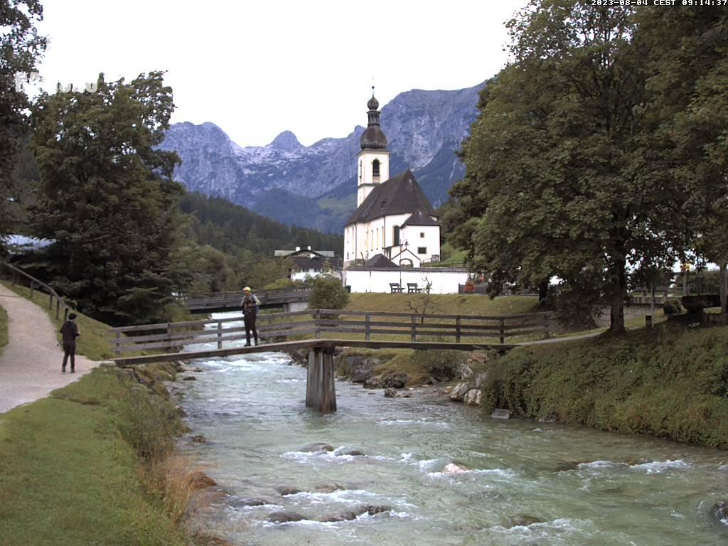 Webcam Skigebied Ramsau - Hochschwarzeck Alpen Oberbayern