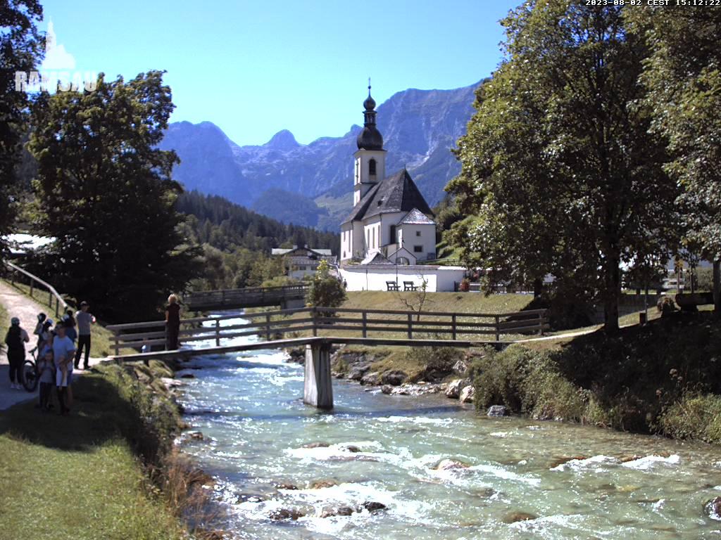 Webcam Ski Resort Ramsau - Hochschwarzeck Kirche - Bavaria Alps - Upper Bavaria
