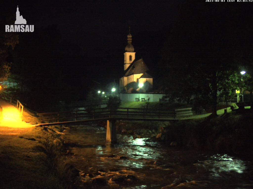 Webcam Ski Resort Ramsau - Hochschwarzeck Bavaria Alps - Upper Bavaria