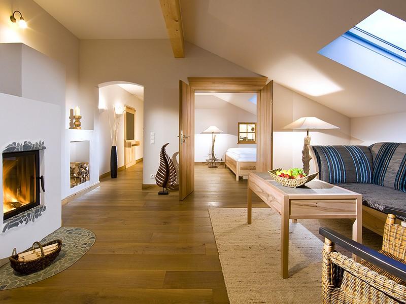 Suite Alpenmohn mit Kamin