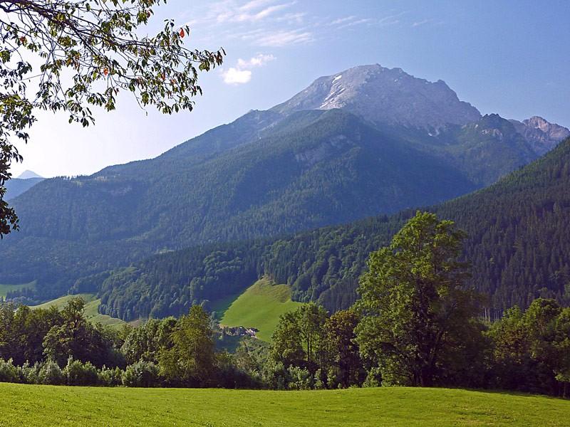 Blick vom Thomanhof zum Watzmann