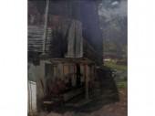 Carl Schuch, Bauernhaus am Hintersee 1882