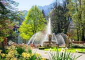 Alpen Sole Springbrunnen Kurgarten