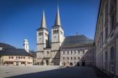 Berchtesgaden Zentrum Stiftkirche und Königliches Schloss