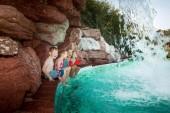 Watzmann Therme Wasserfall Sole Außenbecken